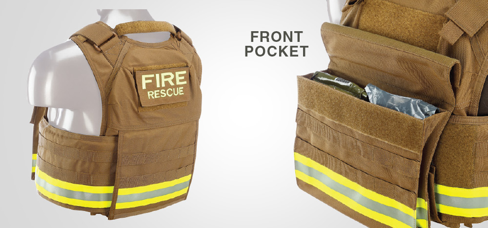 **SIDE AND FRONT POCKET VIEW